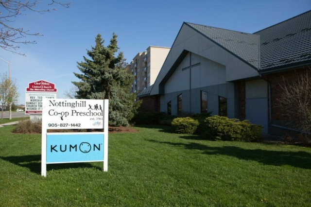 Nottinghill Co-operative Preschool runs out of the Glen Abbey United Church